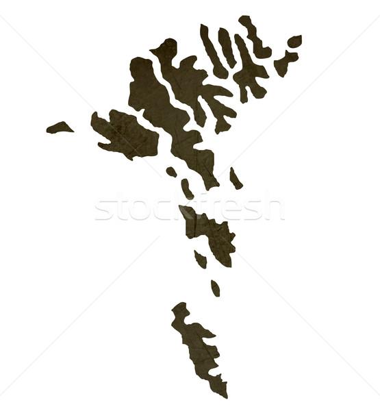 Stock fotó: Sötét · térkép · szigetek · mintázott · izolált · fehér