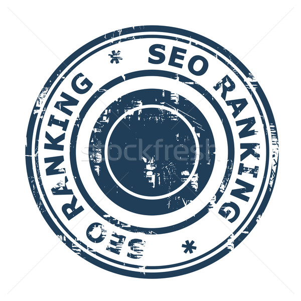 Seo Ranking Stempel isoliert weiß Business Stock foto © speedfighter