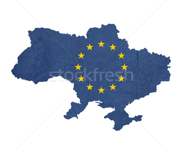 European flag map of Ukraine Stock photo © speedfighter