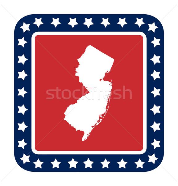 Нью-Джерси кнопки американский флаг веб-дизайна стиль изолированный Сток-фото © speedfighter