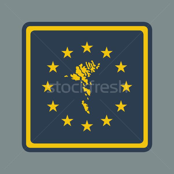 Eilanden europese vlag knop sympathiek web design Stockfoto © speedfighter