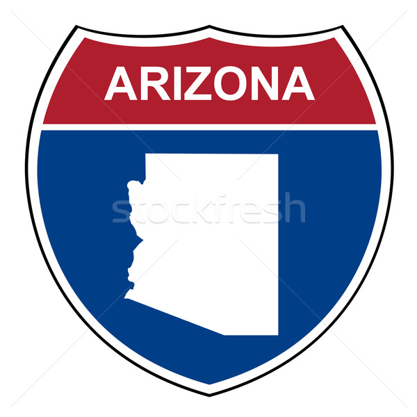 Arizona interstate autoroute bouclier route Photo stock © speedfighter