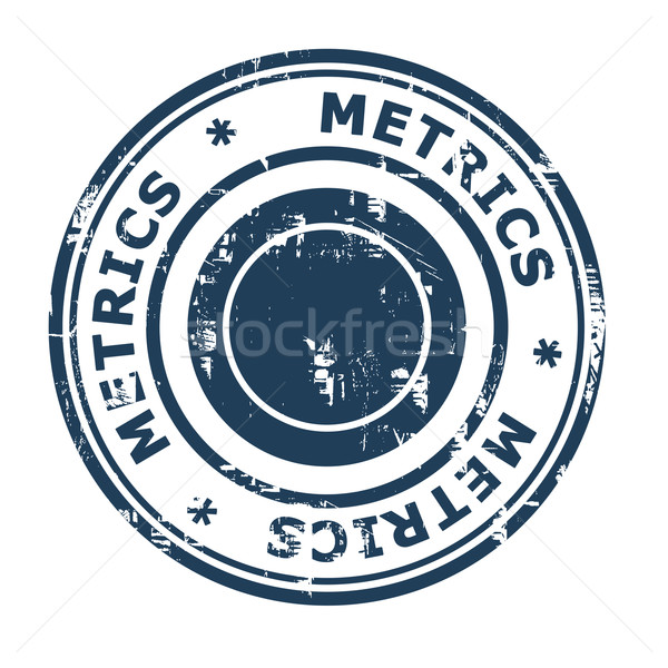 Metrics business concept rubber stamp Stock photo © speedfighter