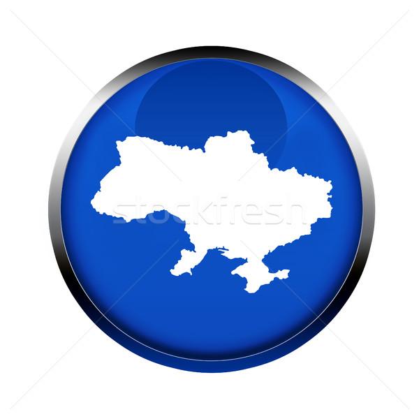 Ucrânia mapa botão cores europeu união Foto stock © speedfighter
