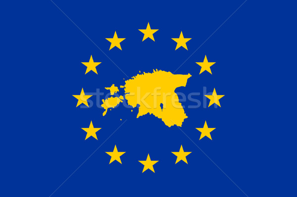 Estonia European flag Stock photo © speedfighter