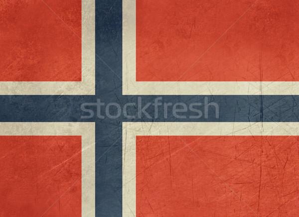 Zdjęcia stock: Grunge · Norwegia · banderą · kraju · urzędnik · kolory
