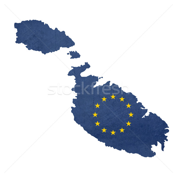 Stockfoto: Europese · vlag · kaart · Malta · geïsoleerd · witte