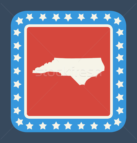 North Carolina knop Amerikaanse vlag web design stijl geïsoleerd Stockfoto © speedfighter