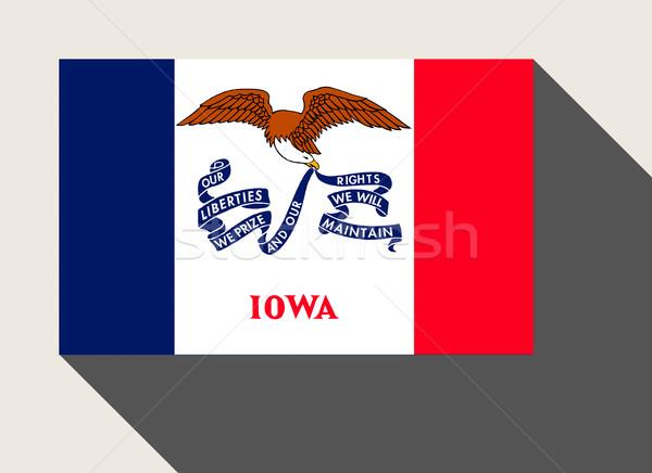 Amerikai Iowa zászló web design stílus gomb Stock fotó © speedfighter