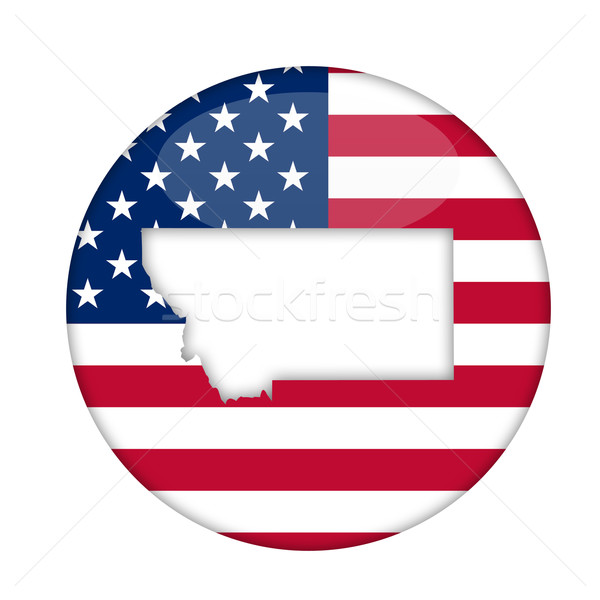 Montana amerika badge geïsoleerd witte business Stockfoto © speedfighter