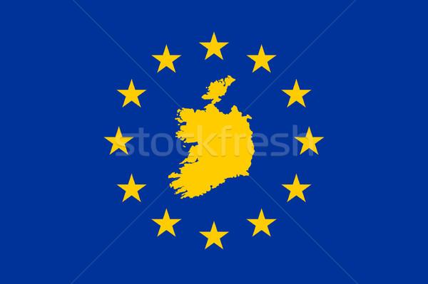 Republic of Ireland European flag Stock photo © speedfighter