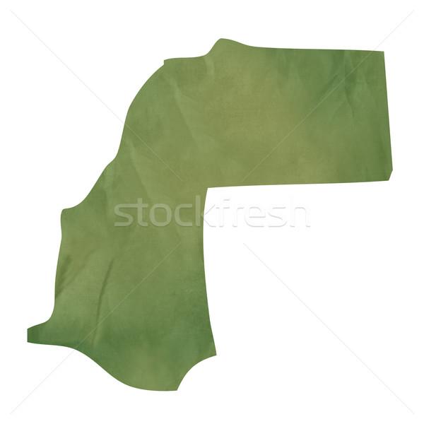 Edad verde papel mapa occidental sáhara Foto stock © speedfighter