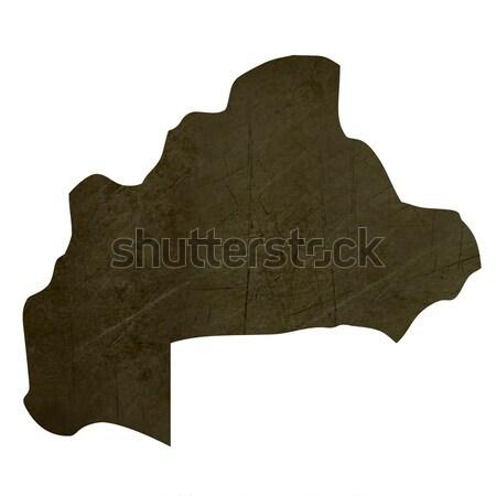 Dark silhouetted map of Burkina Stock photo © speedfighter