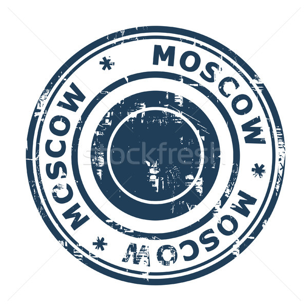 Moscow travel stamp Stock photo © speedfighter