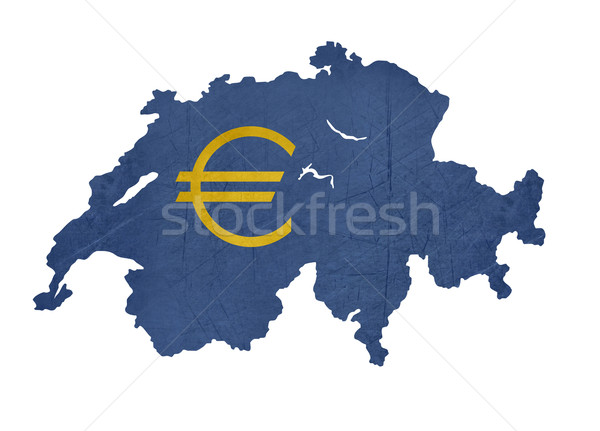 Avrupa para simge harita İsviçre yalıtılmış Stok fotoğraf © speedfighter