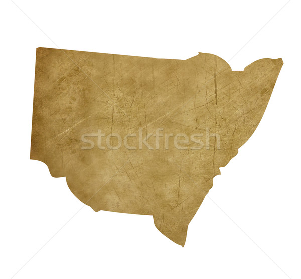 Grunge New South Wales treasure map Stock photo © speedfighter