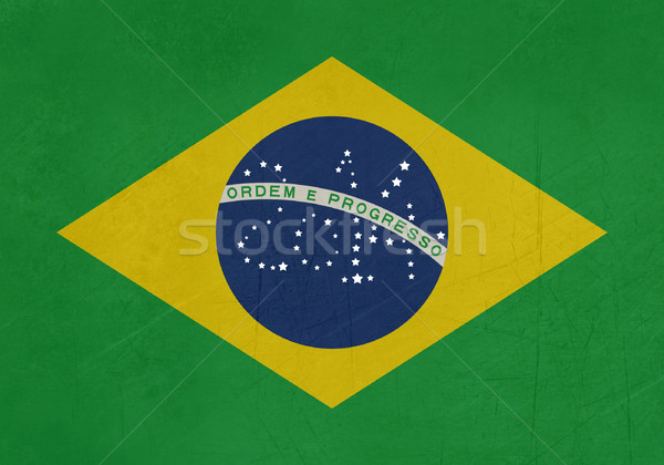 Grunge 2014 Brazil flag Stock photo © speedfighter