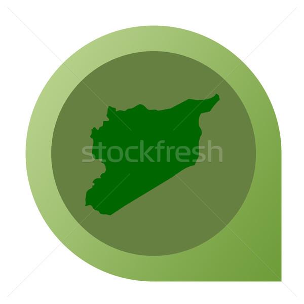 Izolált Szíria térkép jelző tő web design Stock fotó © speedfighter