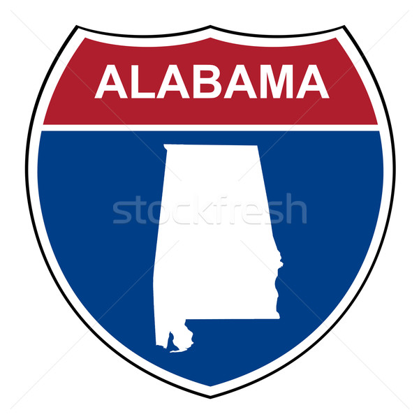 Alabama interstate snelweg schild amerikaanse weg Stockfoto © speedfighter