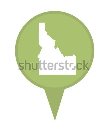 New Hampshire mapa pin americano marcador aislado Foto stock © speedfighter