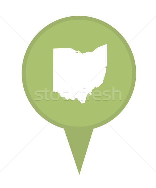 Ohio kaart pin amerikaanse fiche geïsoleerd Stockfoto © speedfighter