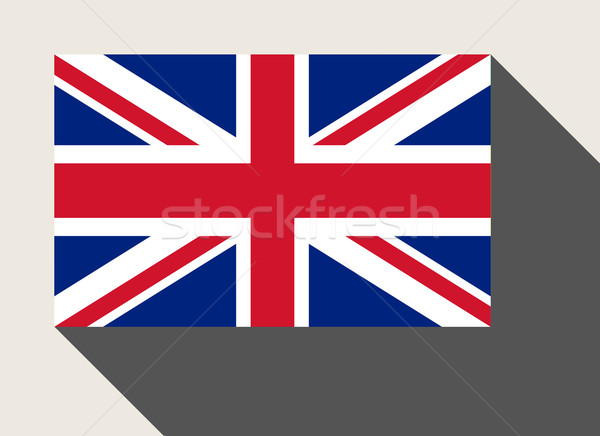 Großbritannien Flagge Web-Design Stil Karte Taste Stock foto © speedfighter