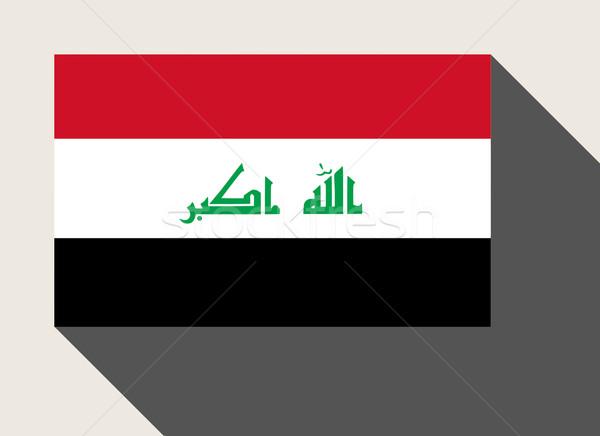Irak zászló web design stílus térkép gomb Stock fotó © speedfighter