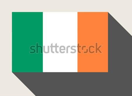 Republiek Ierland vlag web design stijl kaart Stockfoto © speedfighter