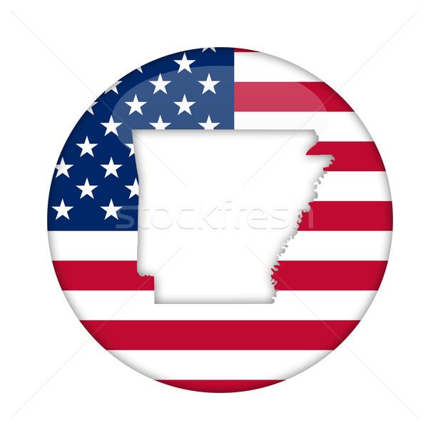 Arkansas América placa aislado blanco negocios Foto stock © speedfighter