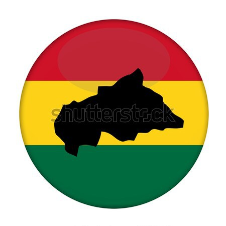 Central African Republic map on a Rastafarian flag button Stock photo © speedfighter