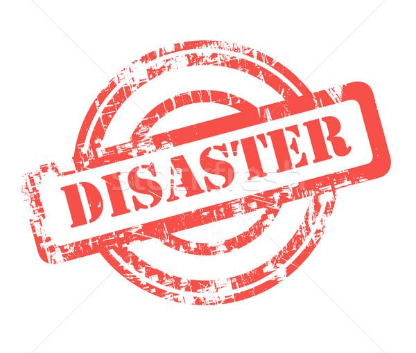 Disaster stamp Stock photo © speedfighter
