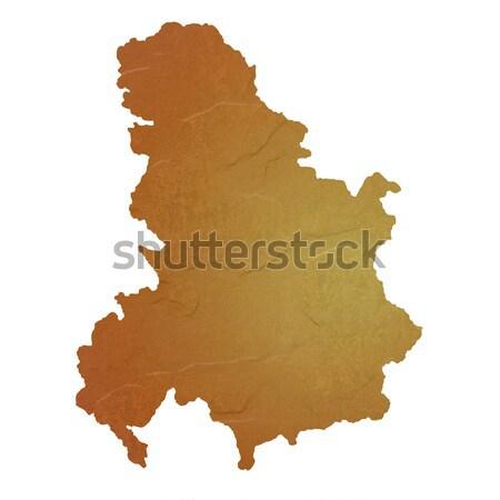 Mapa Serbia Montenegro marrón rock Foto stock © speedfighter