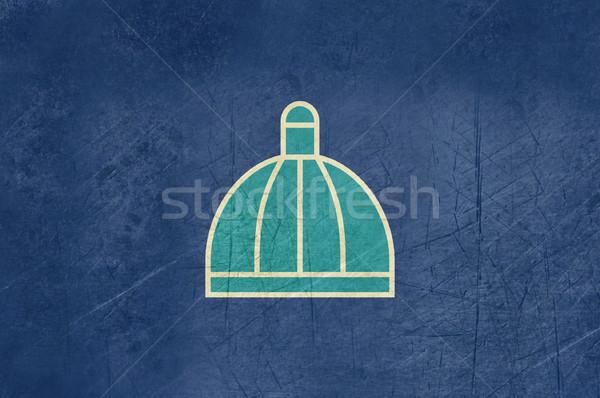 Foto d'archivio: Grunge · città · bandiera · illustrazione · Sudafrica · banner