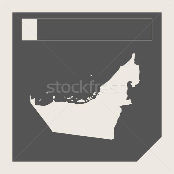 Birleşik Arap Emirlikleri harita düğme duyarlı web tasarım yalıtılmış Stok fotoğraf © speedfighter