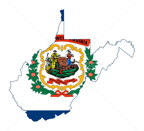 State of West Virginia flag map Stock photo © speedfighter