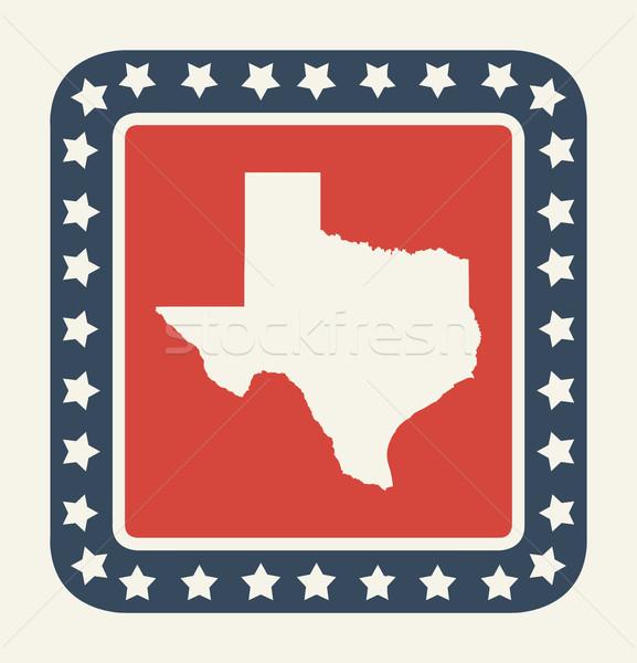 Texas amerikaanse knop Amerikaanse vlag web design stijl Stockfoto © speedfighter