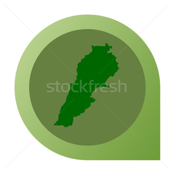 Isolated Lebanon map marker pin Stock photo © speedfighter
