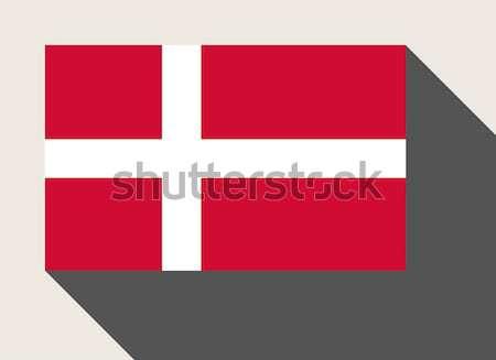 Danimarka bayrak web tasarım stil düğme Stok fotoğraf © speedfighter