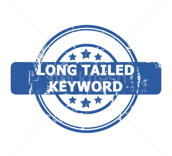 Long Tailed Keyword Stamp Stock photo © speedfighter