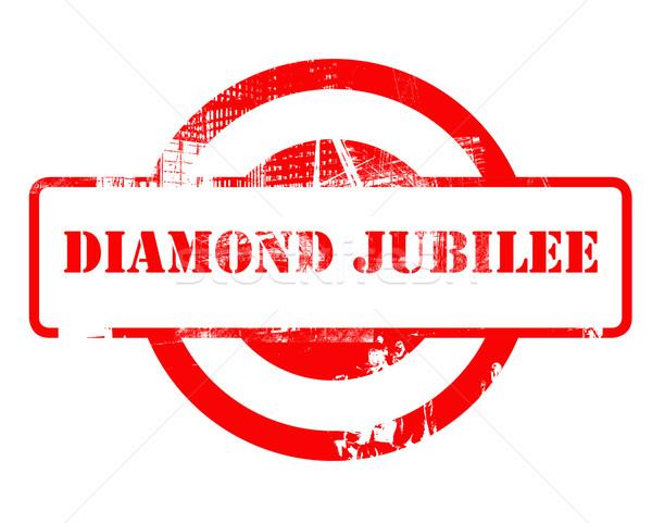 Diamond Jubilee stamp Stock photo © speedfighter