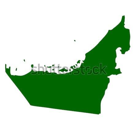Velho verde mapa Emirados Árabes Unidos papel Foto stock © speedfighter