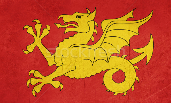 флаг регион Англии Гранж официальный баннер Сток-фото © speedfighter