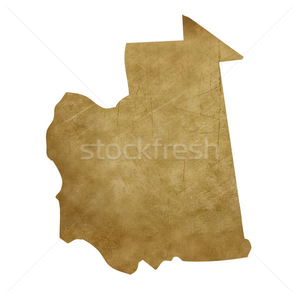 Мавритания Гранж Карта сокровищ карта сокровище стиль Сток-фото © speedfighter