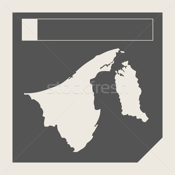 Brunei kaart knop sympathiek web design geïsoleerd Stockfoto © speedfighter