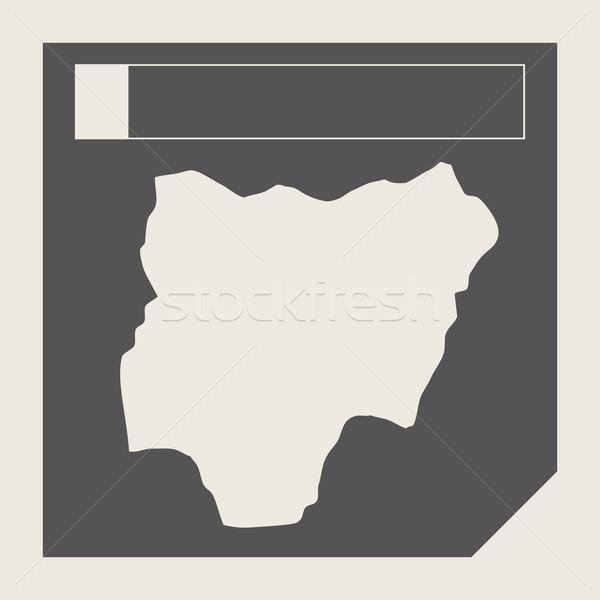 Nijerya harita düğme duyarlı web tasarım yalıtılmış Stok fotoğraf © speedfighter