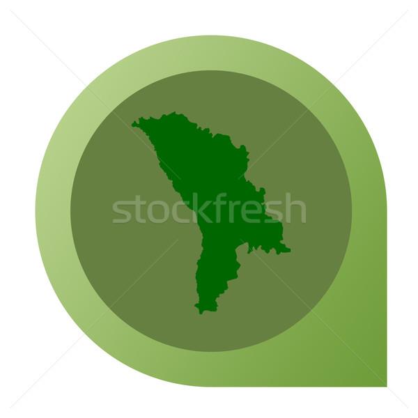 Izolált Moldova térkép jelző tő web design Stock fotó © speedfighter