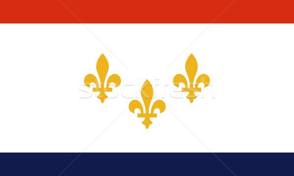 New Orleans zászló város Louisiana USA utazás Stock fotó © speedfighter