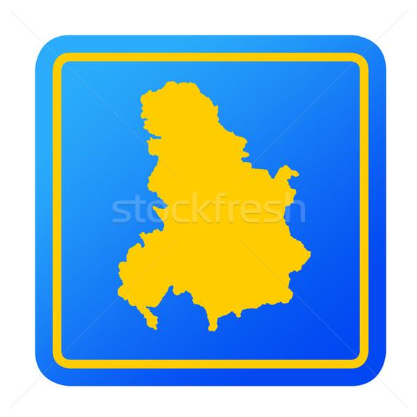 Serbie Monténégro européenne bouton isolé blanche Photo stock © speedfighter