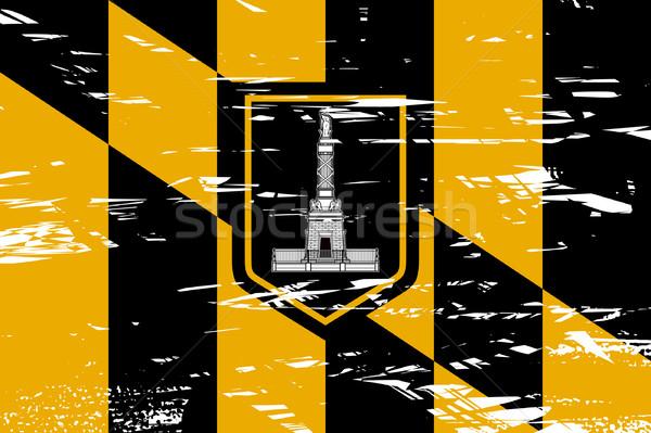 Stad vlag USA grunge effect reizen Stockfoto © speedfighter