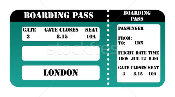 London 2012 boarding pass Stock photo © speedfighter